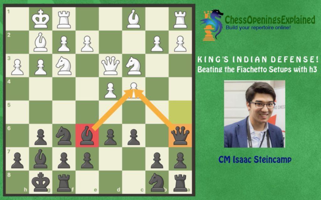 KID ...Qa5 Sideline Against h3 Fianchetto Set-ups!